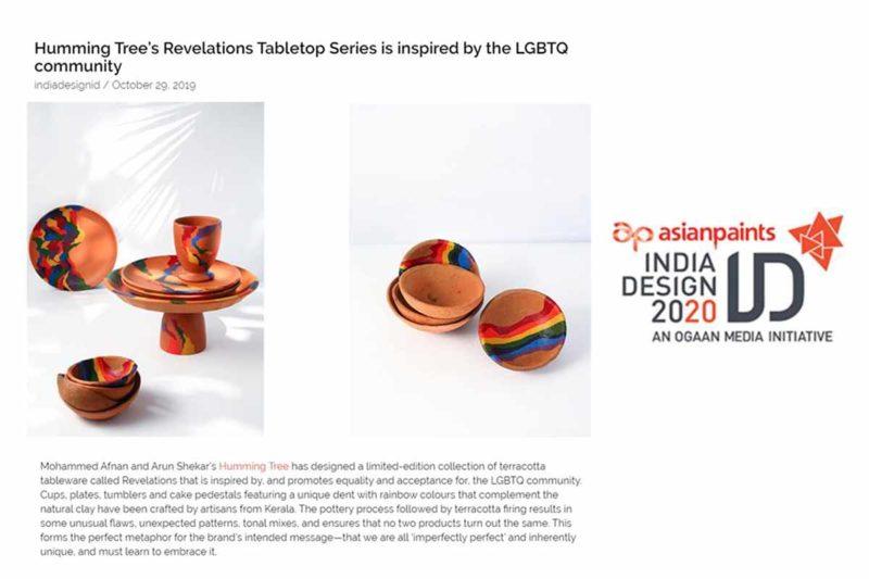 Revelations featured on INDIA DESIGN ID.