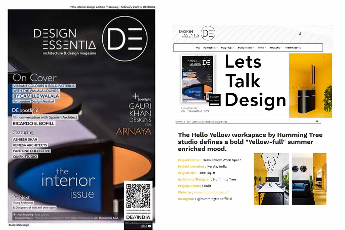 Hello Yellow office featured on DESIGN ESSENTIA.