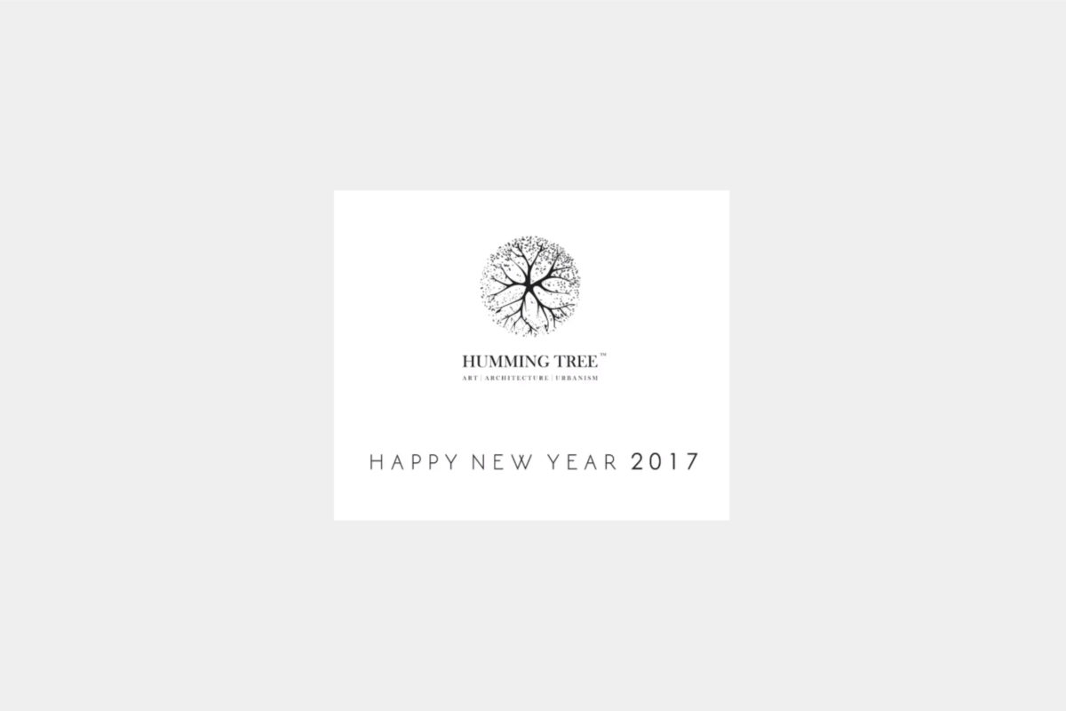 Humming tree wishes a happy new year