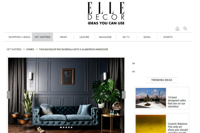 Featured on Elle Decor, Bachelors Pad in Kerala