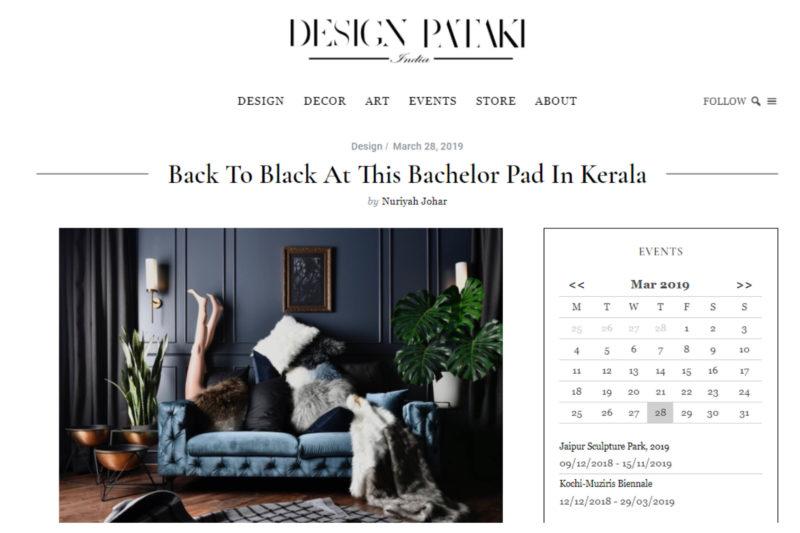 Featured on Design Pataki, Bachelors Pad, Kerala.