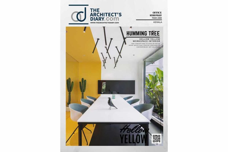 Hello Yellow Office Featured on ARCHITECTS DIARY.