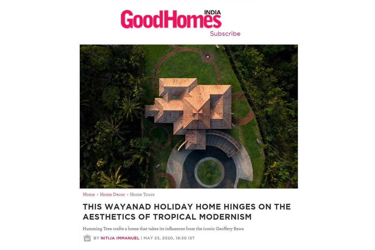 Weekend Home in Kerala, Wayanad featured on GOOD HOMES magazine