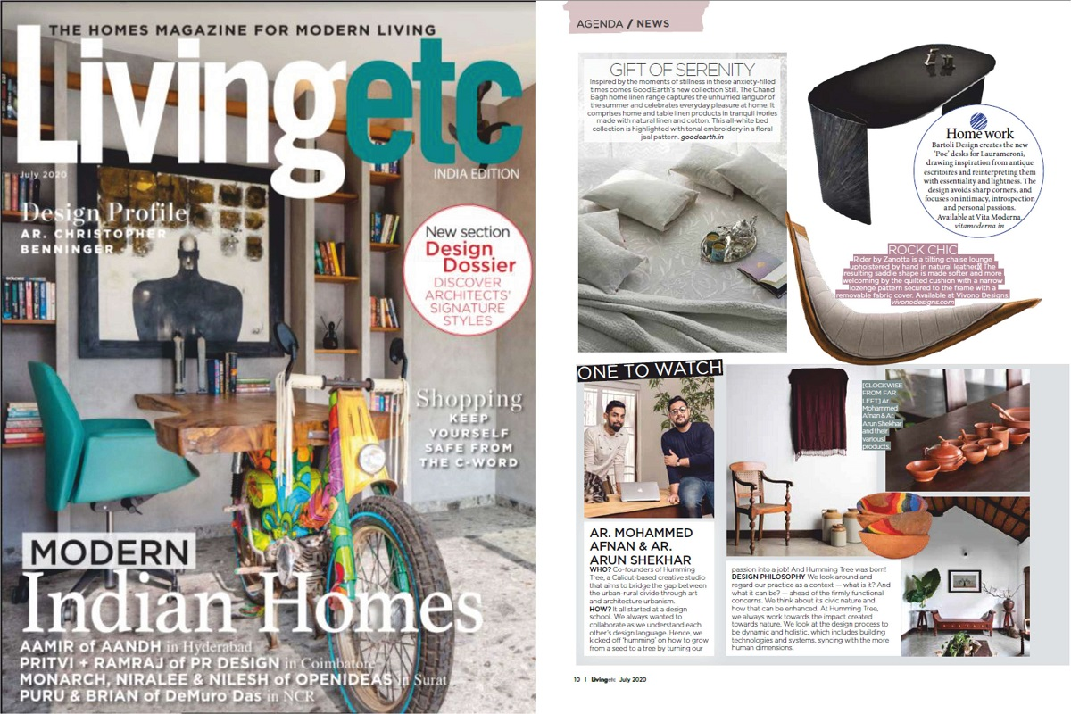Weekend Home in Wayanad, Kerala featured on LIVING ETC magazine.