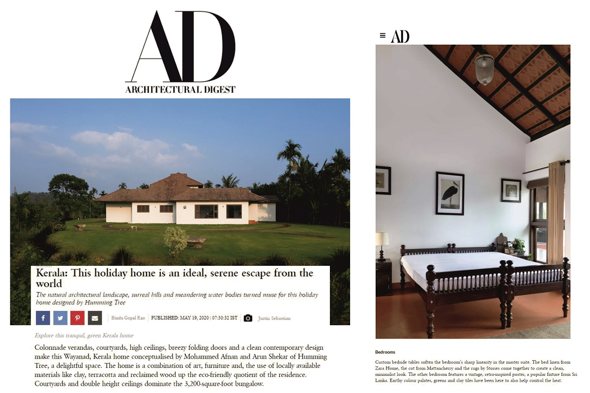 Weekend Home in Wayanad Kerala featured on AD