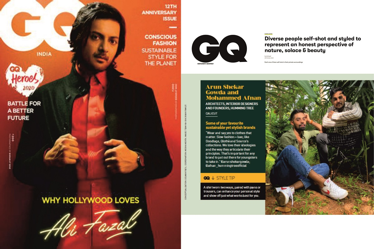 Afnan & Arun gets featured for style on GQ magazine