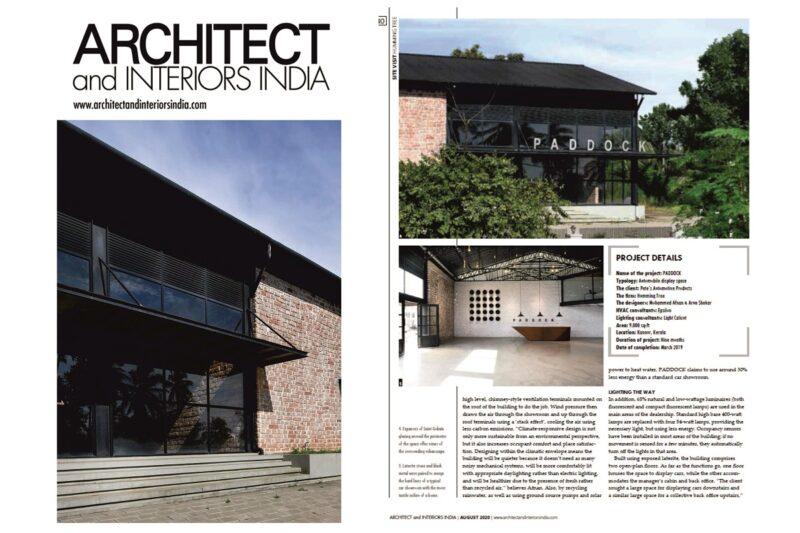 PADDOCK on ARCHITECT & INTERIOR magazine