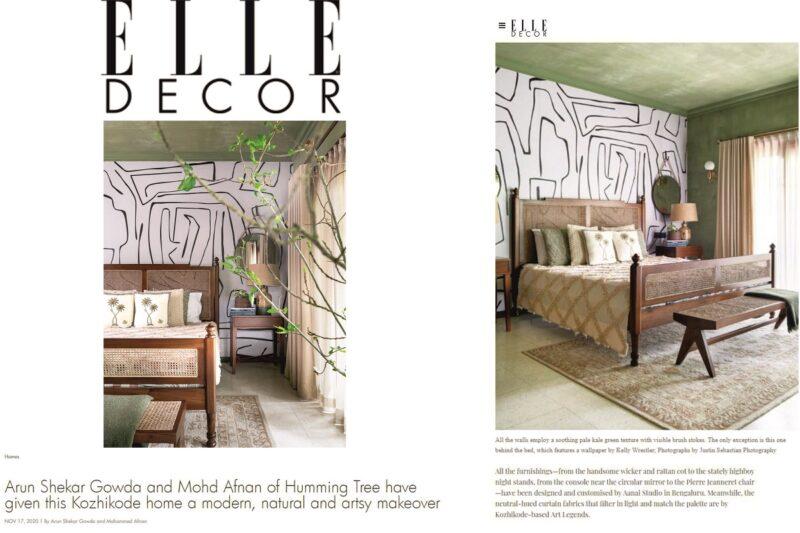 The Bedroom edit featured on ELLE DECOR